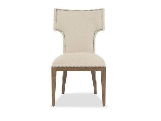 Nailhead-Trimmed 38'' Side Chair in Cream