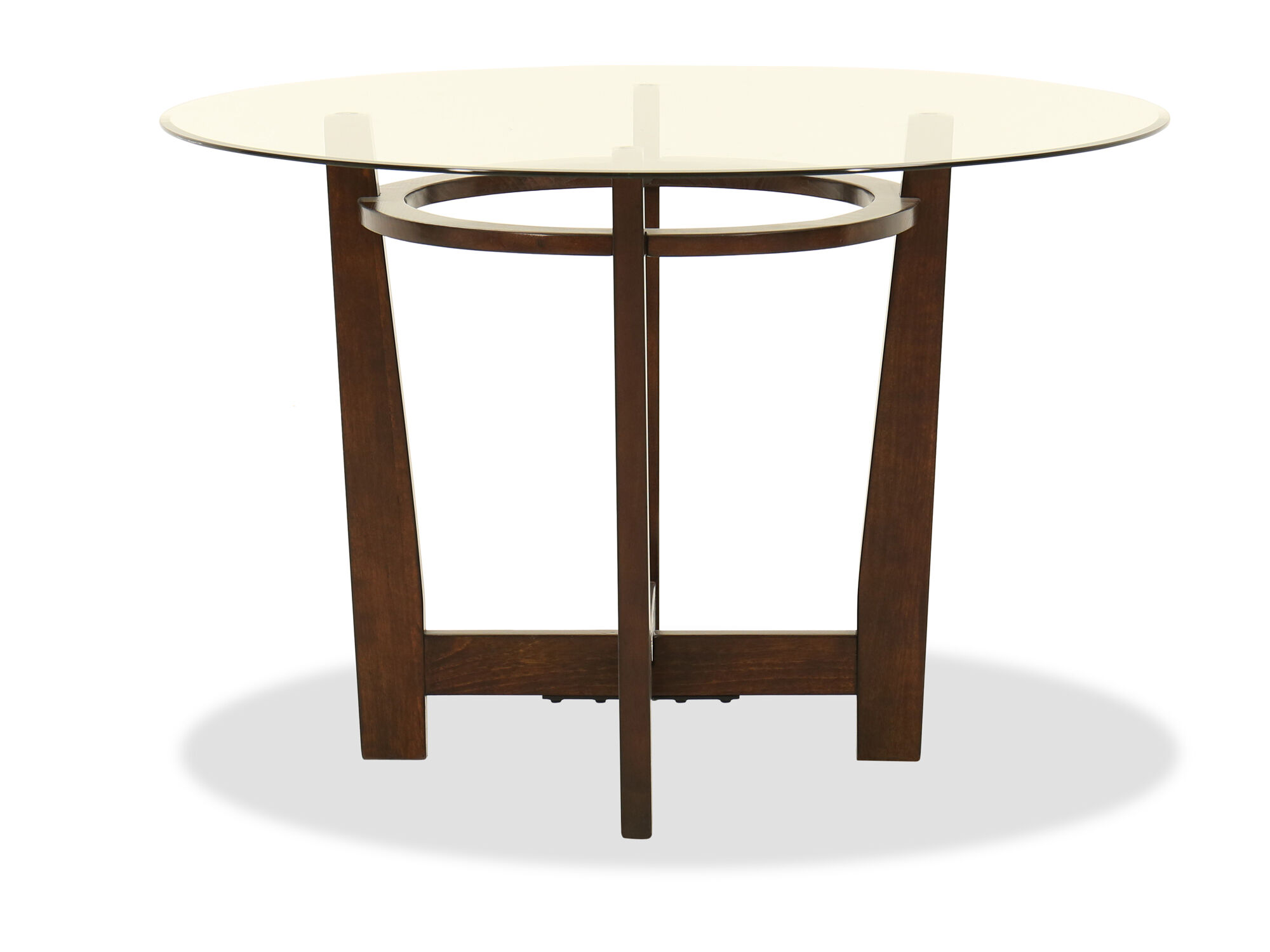 Contemporary 45u0026quot; Beveled Glass Dining Table In Medium ...