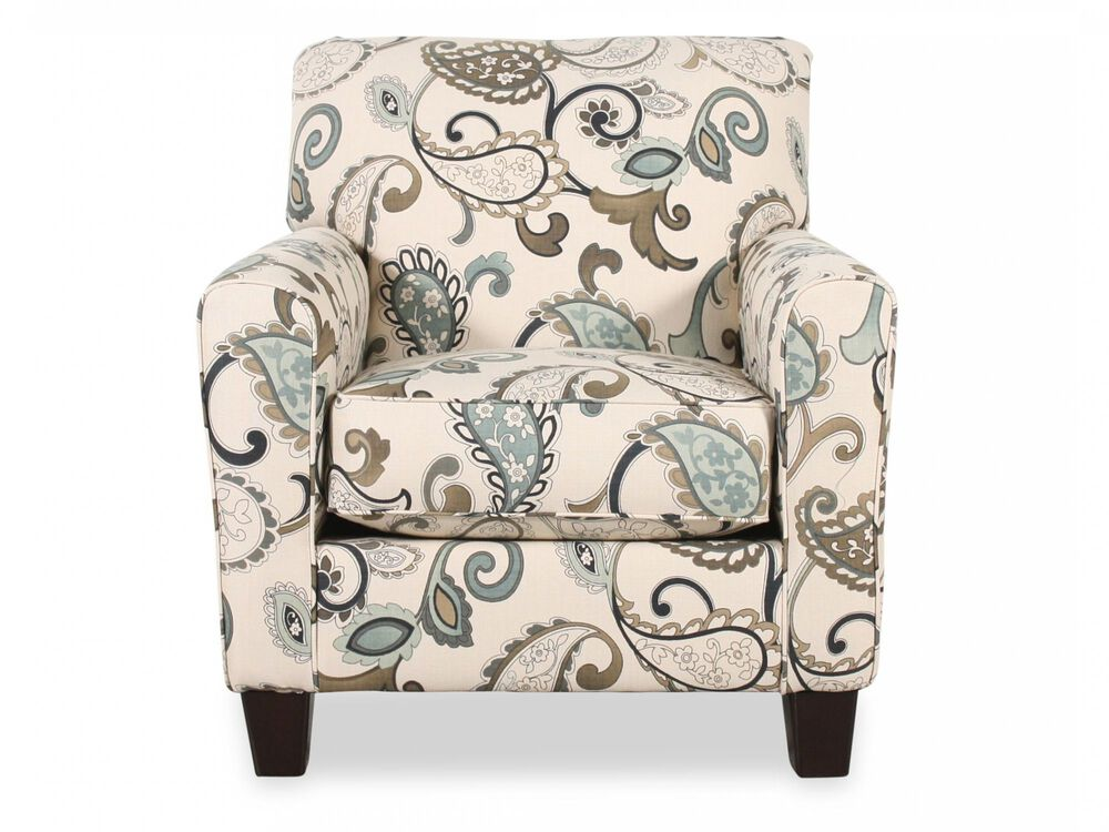 Marvelous Paisley Patterned Contemporary 35 Accent Chair In Cream Alphanode Cool Chair Designs And Ideas Alphanodeonline