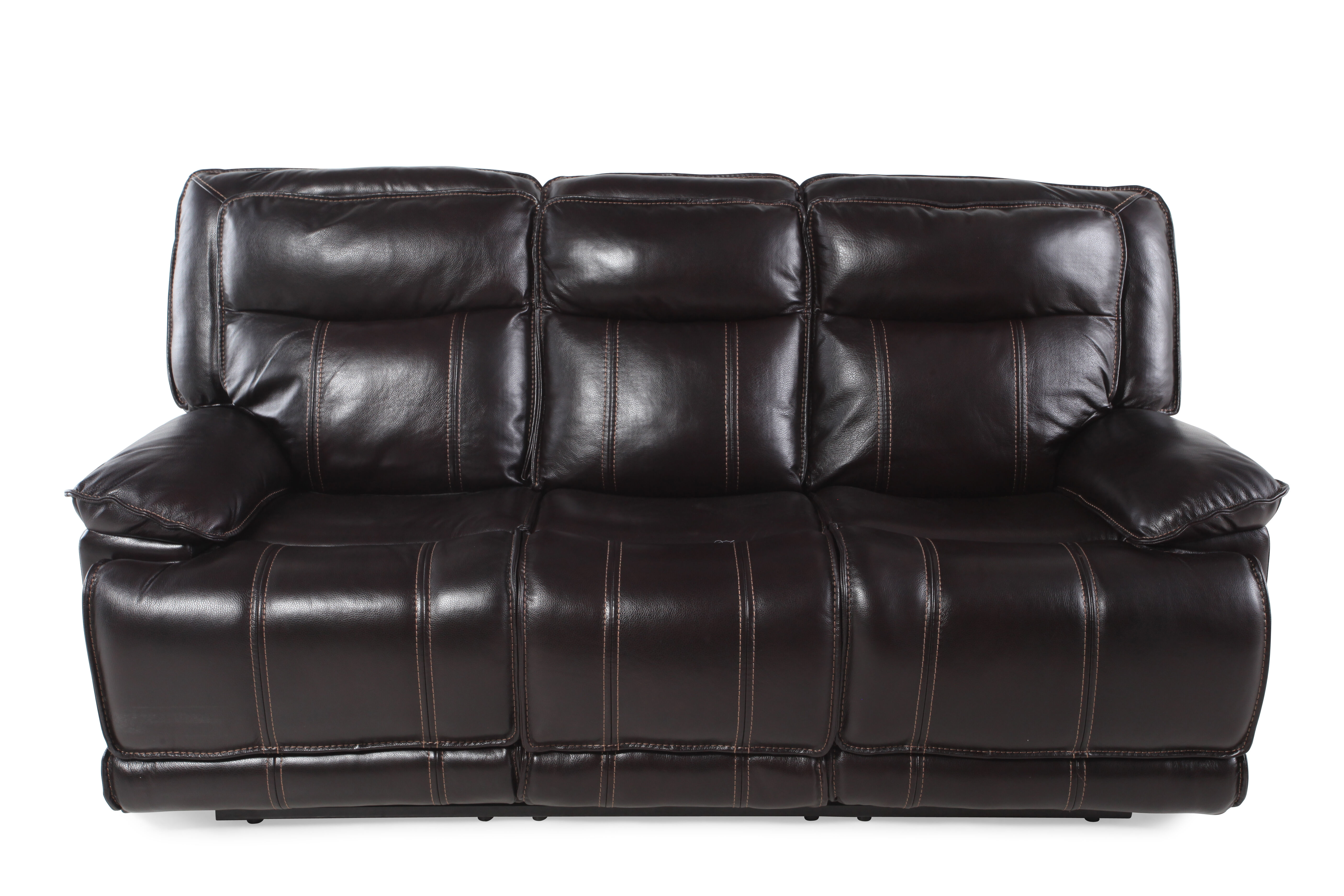 boulevard coffee leather reclining sofa