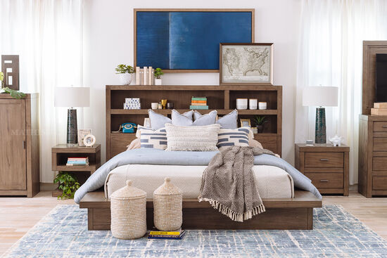 """25"""" Contemporary Two-Drawer Nightstand in Graystone"""