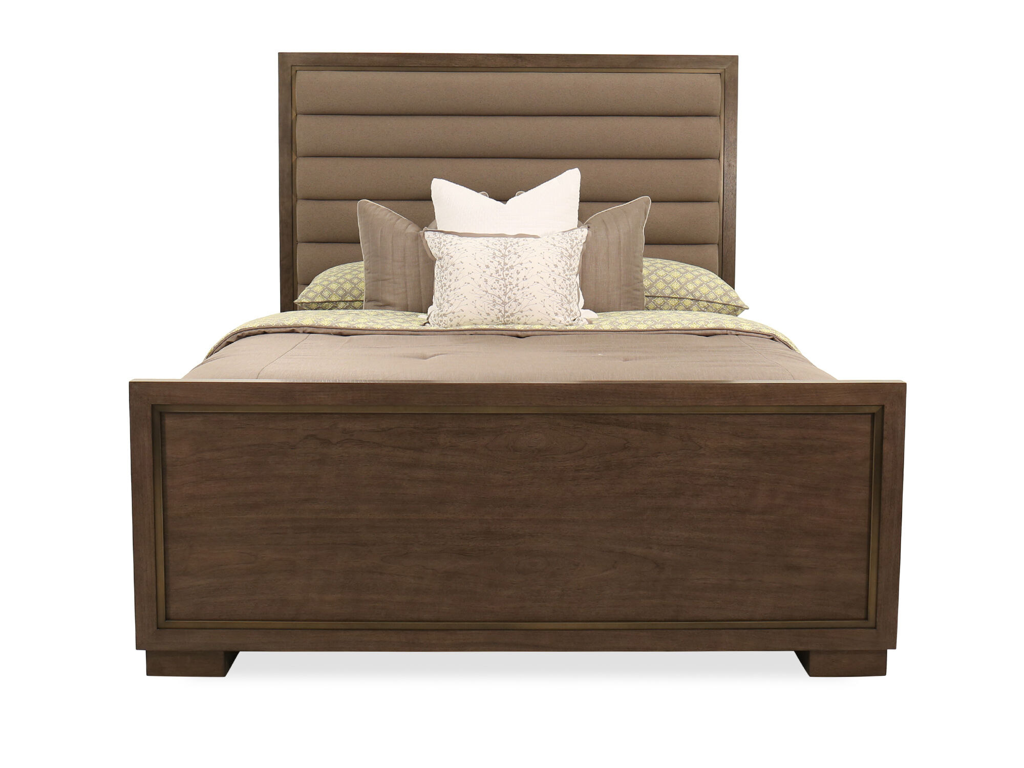 72 modern bed in dark brown mathis brothers furniture