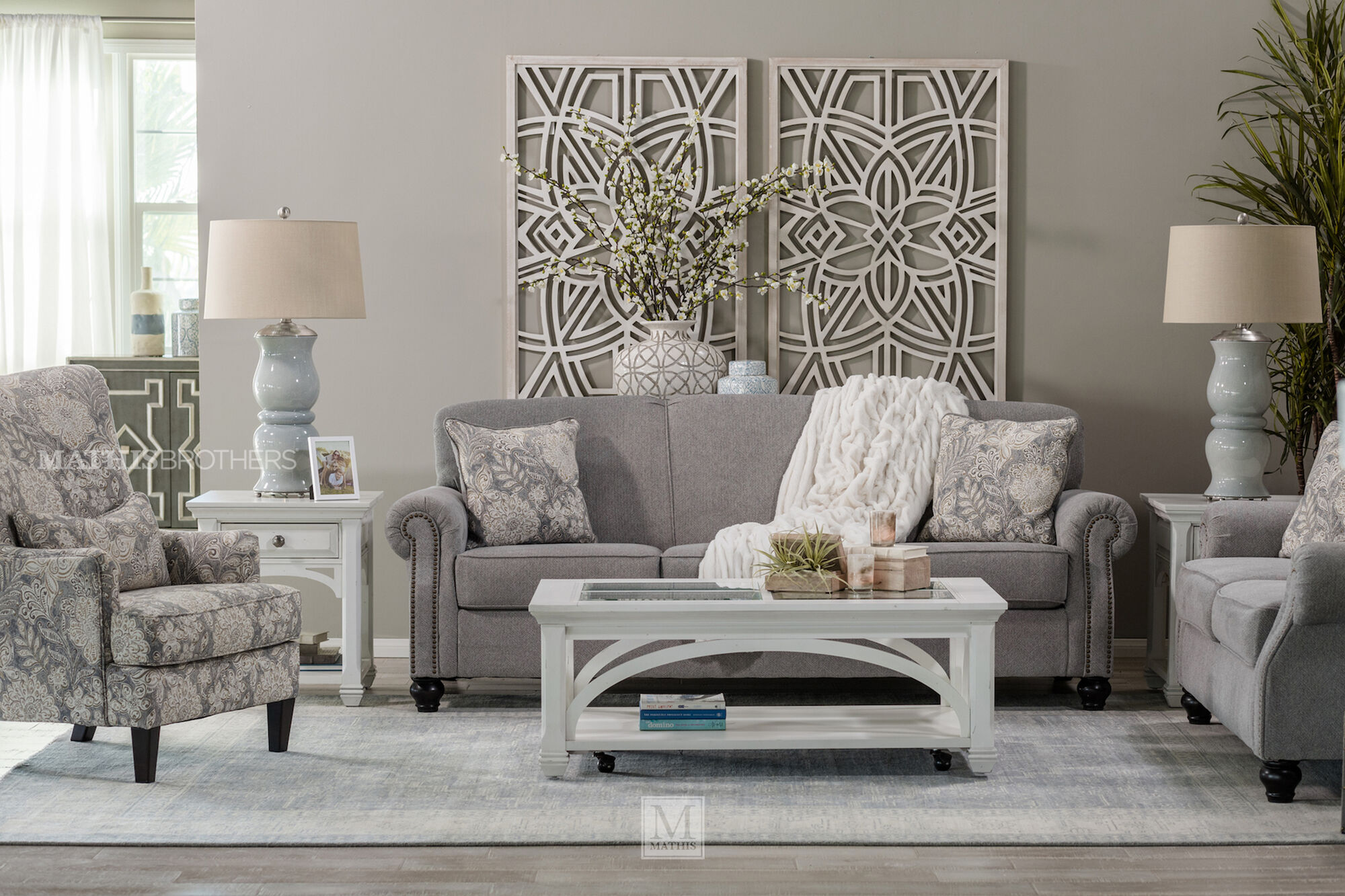 Contemporary Nailhead Accented 92 Quot Sofa In Gray Mathis