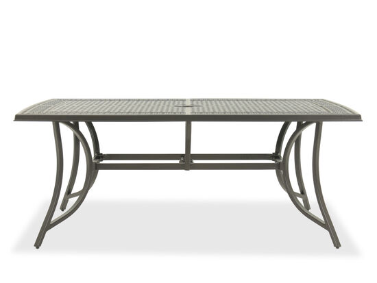 Lattice-Designed Rectangular Dining Tablein Dark Brown
