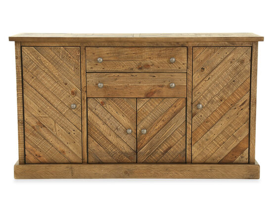 Two-Drawer Casual 35'' Dining Server in Light Brown