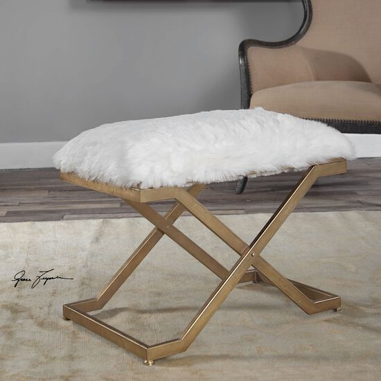 "X-Base 24"" Accent Bench in White"
