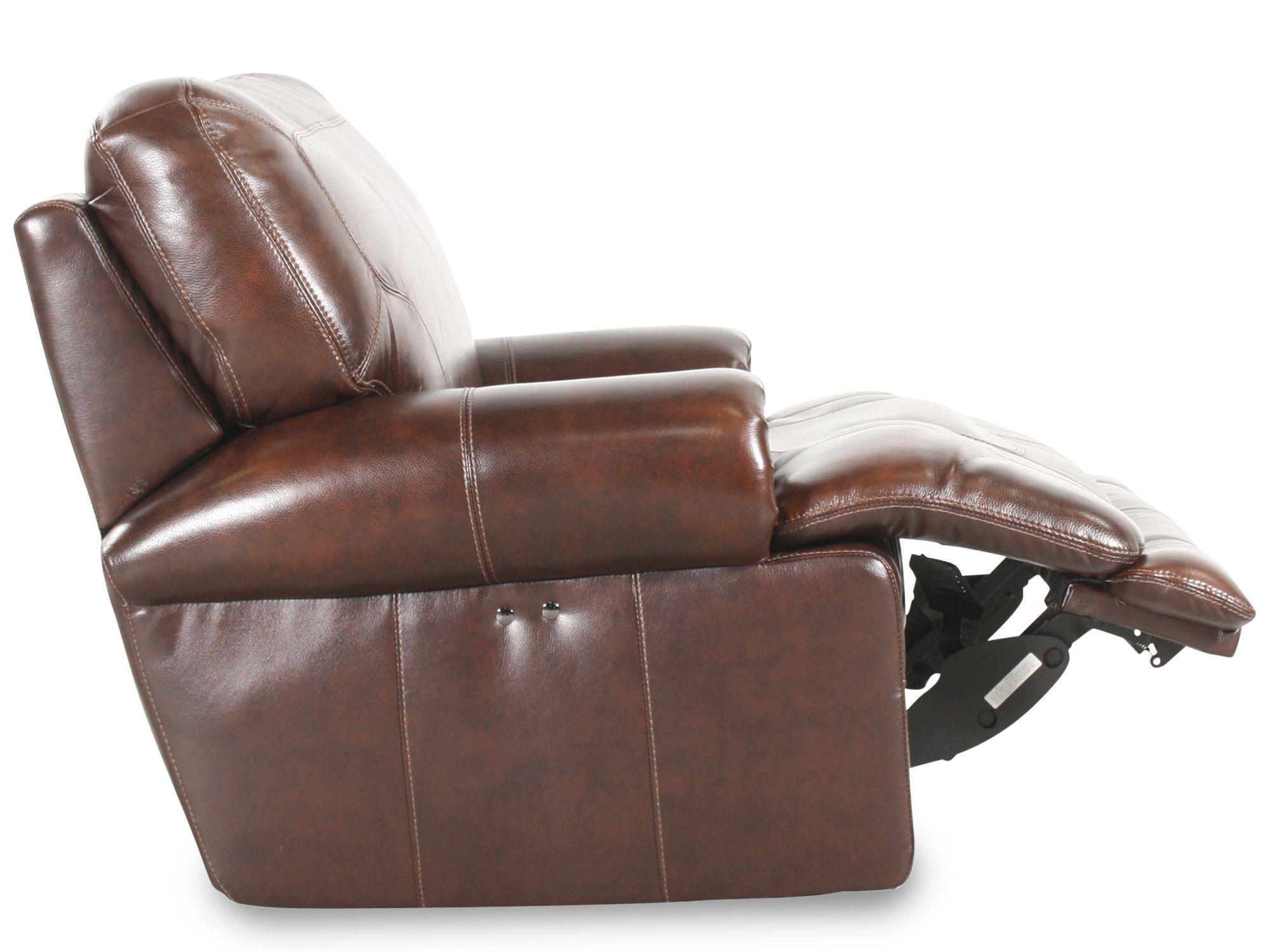 Simon Li Leather St&ede Coffee Recliner  sc 1 st  Mathis Brothers & Simon Li Leather Stampede Coffee Recliner | Mathis Brothers Furniture islam-shia.org