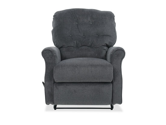 "Button Tufted Casual 36"" Wall Saver Recliner in Slate"