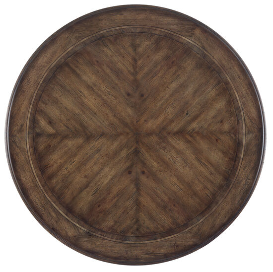 Rhapsody 72'' Round Dining Table in Medium Wood