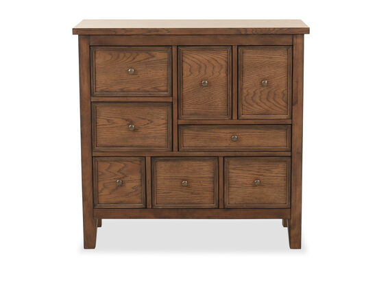 Traditional Eight-Drawer Hall Chest in Brown
