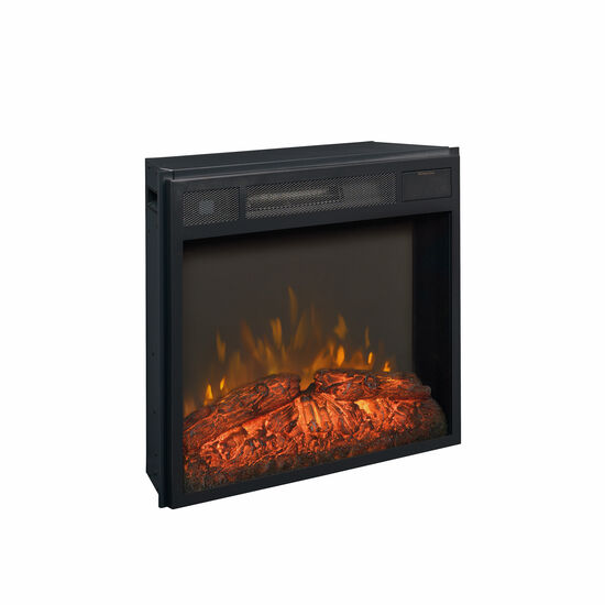 "20"" Contemporary Fireplace Insert in Black"