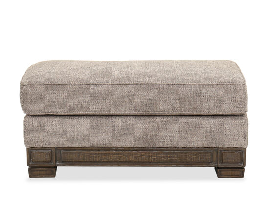 "43"" Traditional Cushion-Top Ottoman in Brown"
