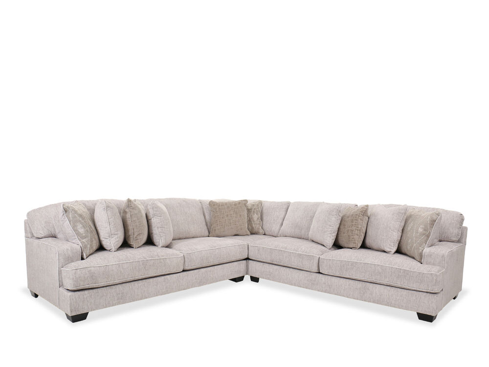 Three Piece Sectional In Parchment