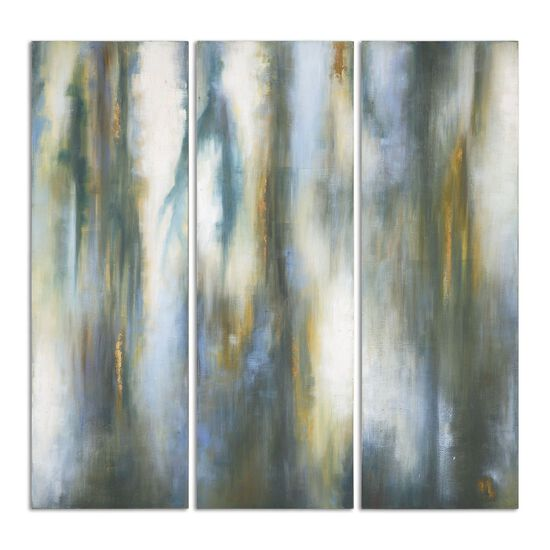 Three-Piece Hand Painted Abstract Canvas Wall Art Set