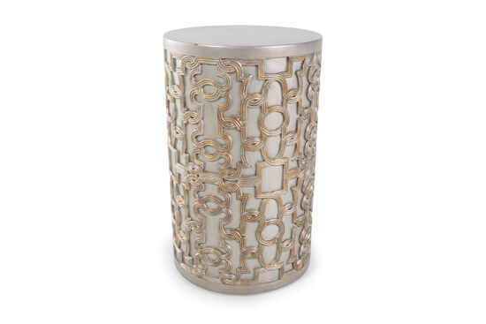 Transitional Drum End Tablein Silver
