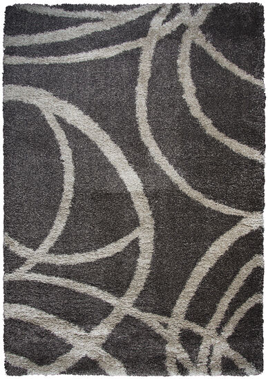 "Transitional Power-Loomed 5'3"" x 7'3"" Rectangle Rug in Brown"