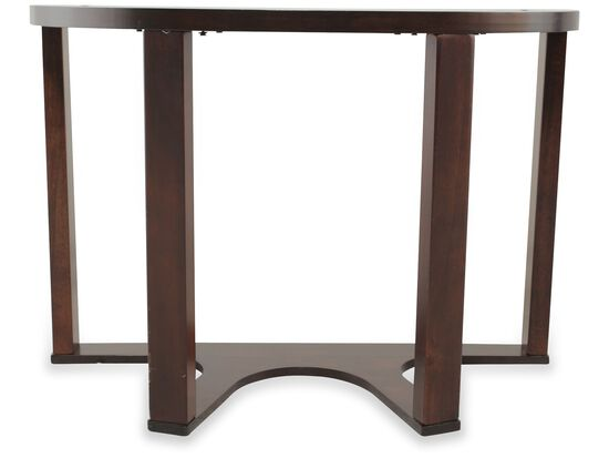 Four-Way Stretcher Contemporary Sofa Table in Dark Merlot
