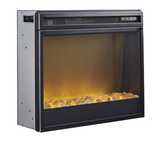 """20"""" Contemporary LED Fireplace Insert in Black"""