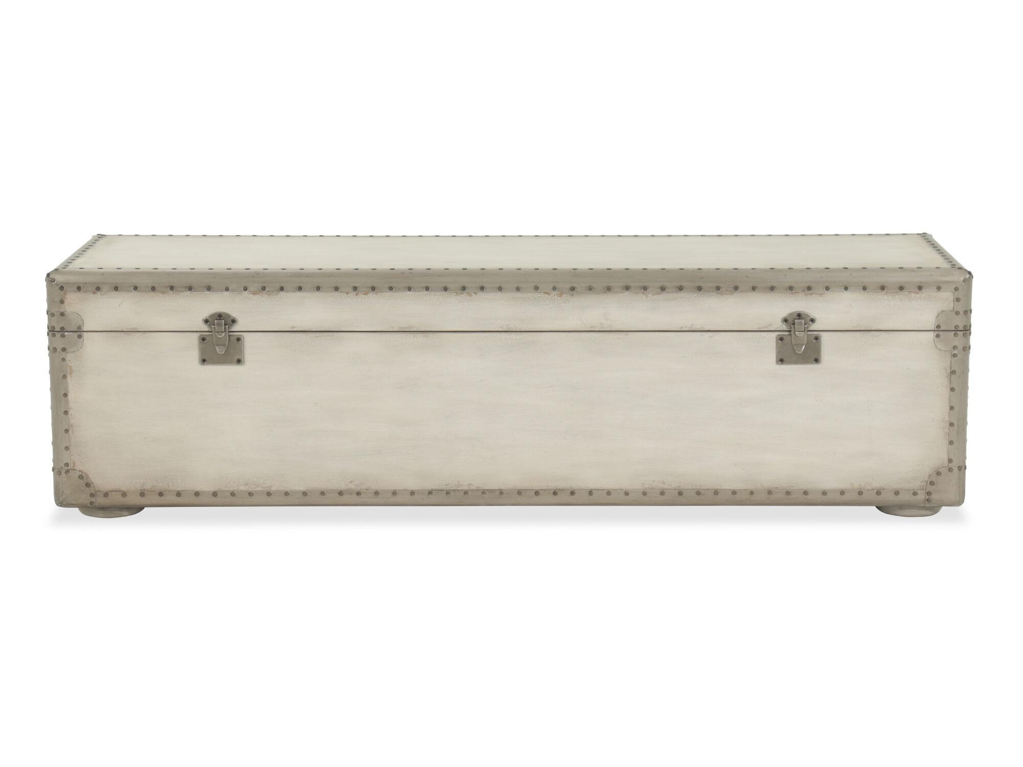 ... Nailhead Accented European Classic 60u0026quot; Storage Bench ...