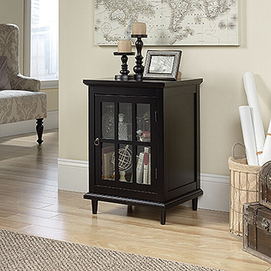 27'' One-Door Casual Side Table in Black