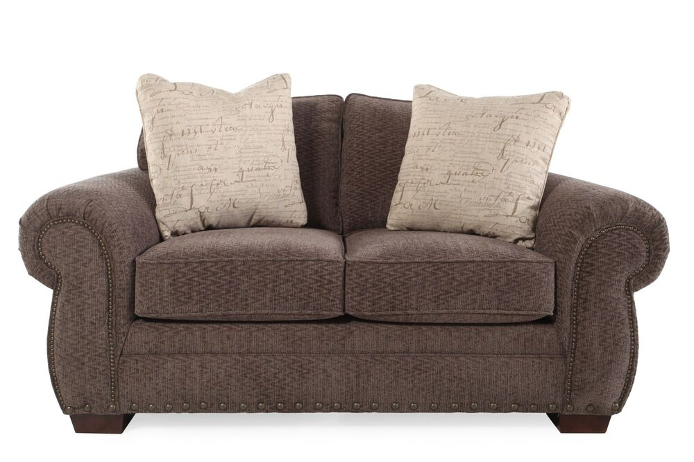 Chevron Transitional 68 Quot Loveseat In Mushroom Brown