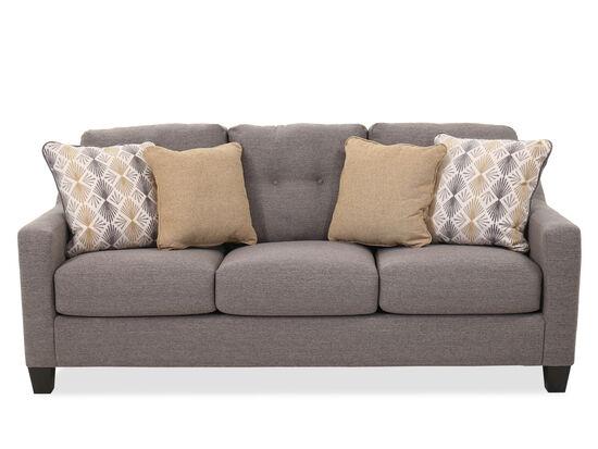 """Button-Tufted Contemporary 80"""" Sofa in Graphite"""
