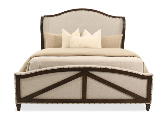 """72"""" Casual King Panel Bed in Abbey Cream"""