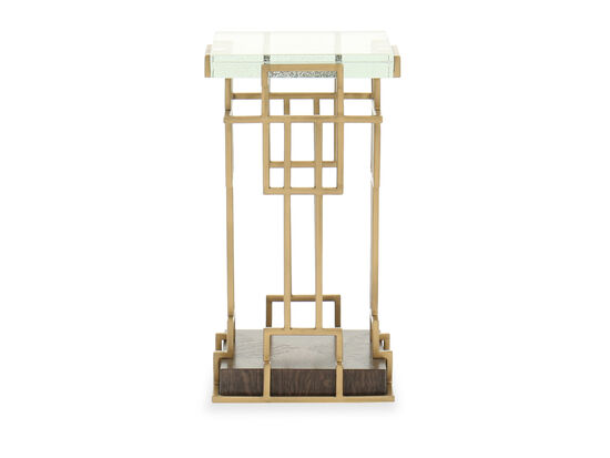 Traditional Square End Table in Bronze