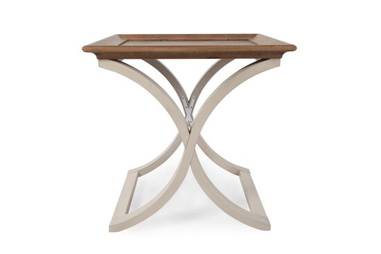 Square Transitional End Tablein Natural Hickory