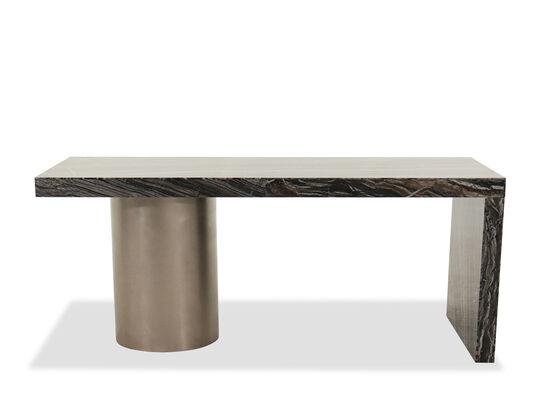 """72"""" Modern Single Pedestal Desk in Black Forest"""