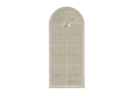 "82"" Traditional Eglomise Floor Mirrorin White"