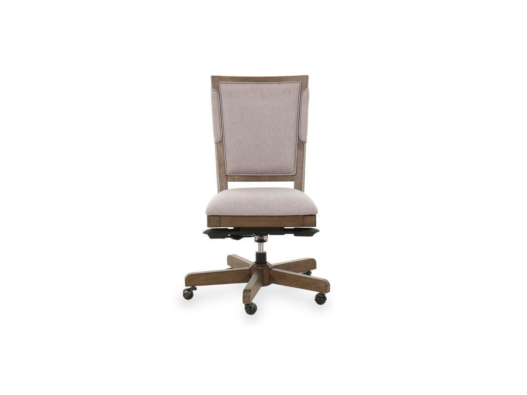 Mid Century Modern Office Chair In Beige Mathis Brothers Furniture