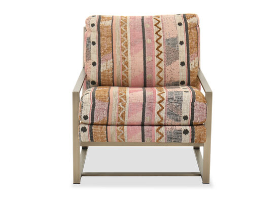 """Transitional 29"""" Patterned Chair"""