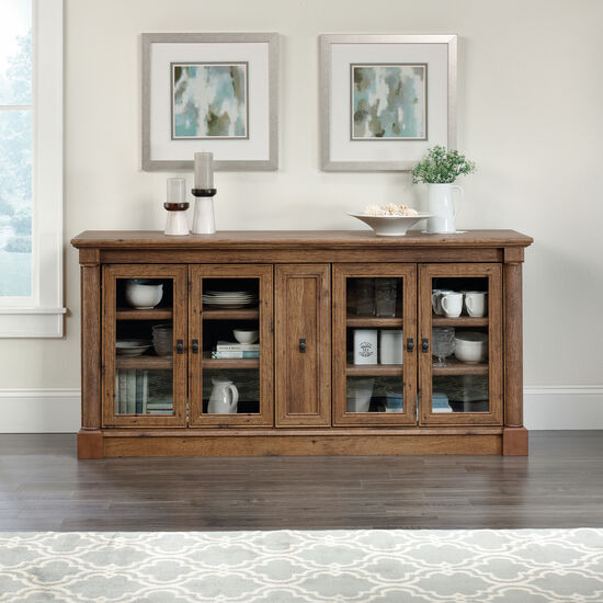 Four Door Solid Wood Credenza in Vintage Oak