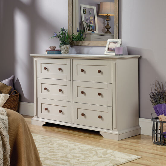 "36"" Contemporary Paneled Six-Drawer Dresser in Cobblestone"