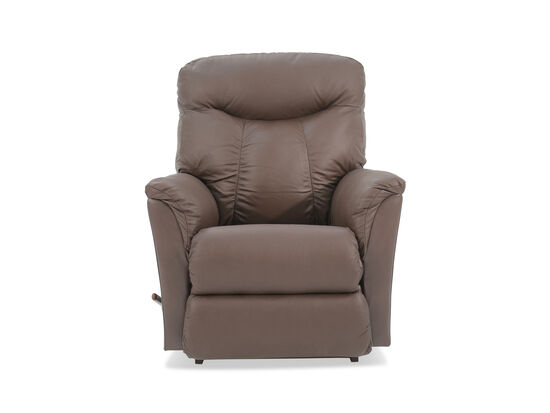 "Leather 36"" Power Recliner in Brown"
