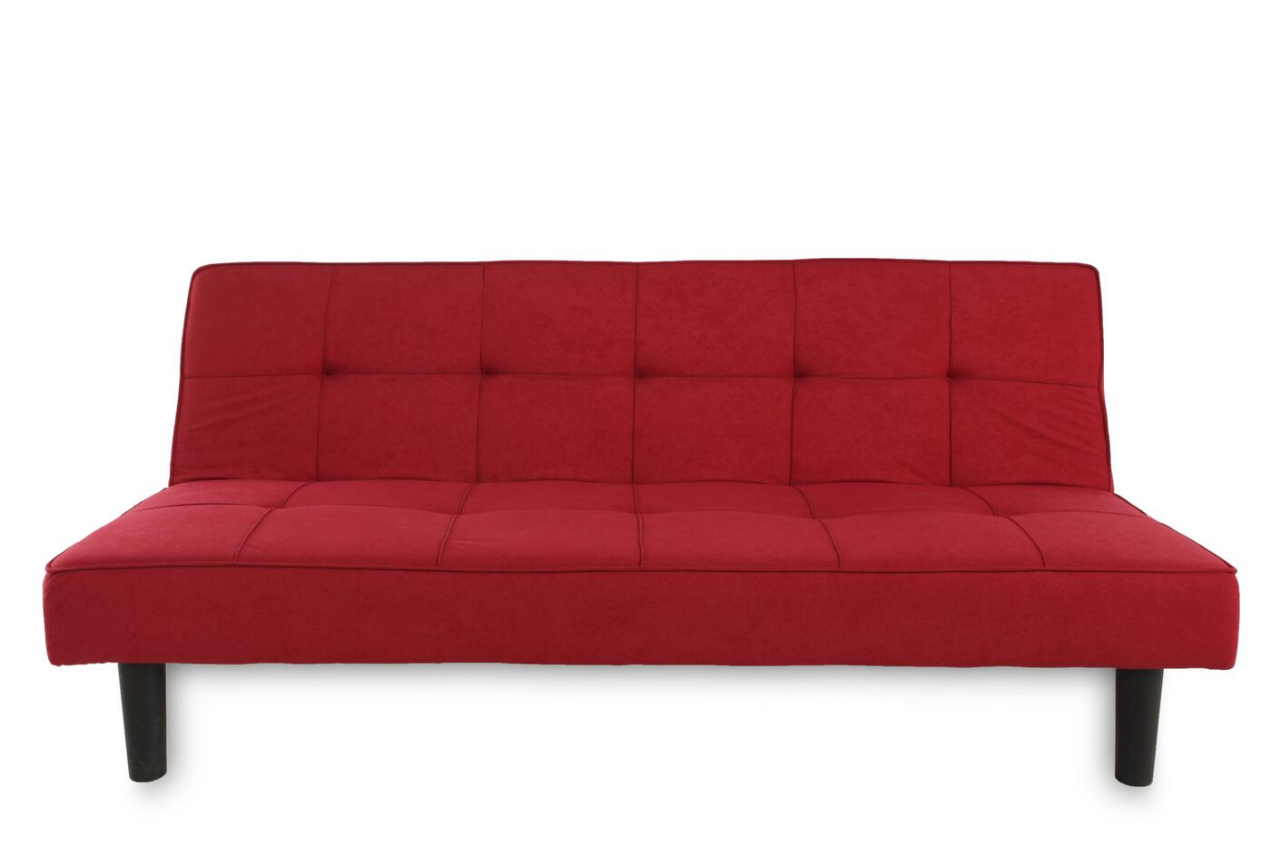 tufted 70 convertible sofa in red mathis brothers furniture. Black Bedroom Furniture Sets. Home Design Ideas