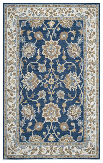 Traditional Hand-Tufted 3'  x  5' Rectangle Rug in Blue