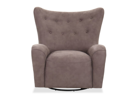"""Contemporary 37"""" Swivel Chair in Gray"""