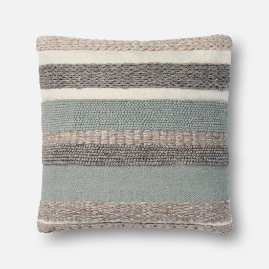"""22""""x22"""" Cover w/Poly Pillow in Sage"""