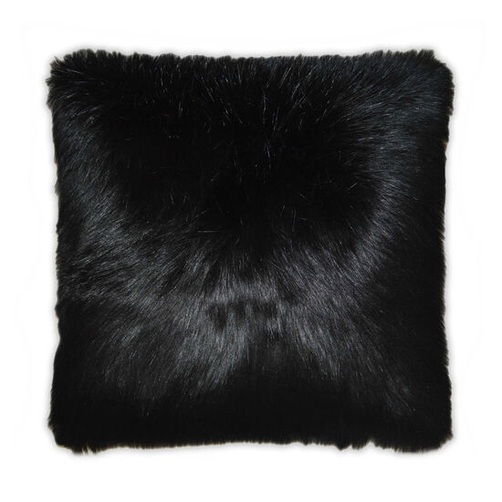 Black Fox Pillow in Charcoal Gray