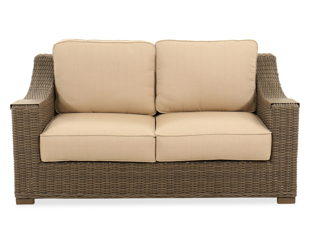 60 Woven Loveseat In Gray Mathis Brothers Furniture