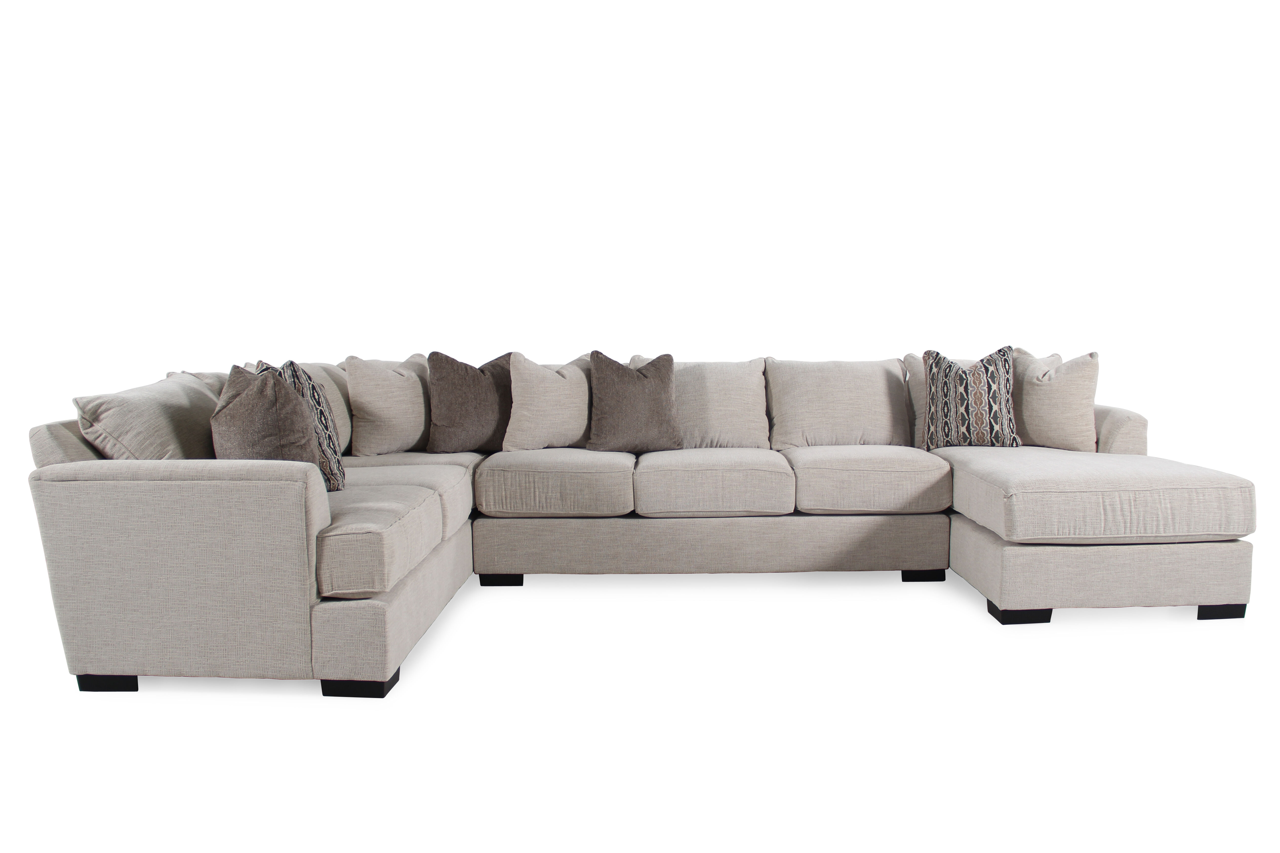 Michael Nicholas Fortune Three-Piece Sectional  sc 1 st  Mathis Brothers : michael nicholas designs sectional - Sectionals, Sofas & Couches