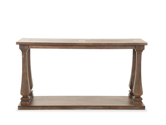 Traditional Rectangular Sofa Table in Gray
