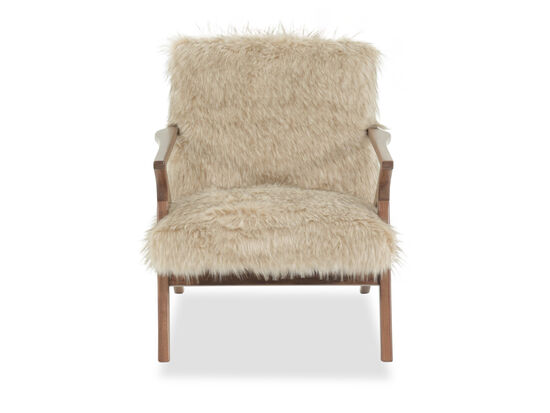 """Frizzy Contemporary 28"""" Chair in Beige"""