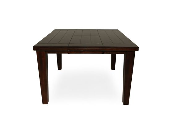 "Casual Butterfly Extension 36"" to 54"" Pub Table in Burnished Dark Brown"