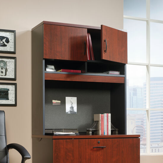"""36.5"""" Casual Two-Door Lateral File Hutch in Classic Cherry"""