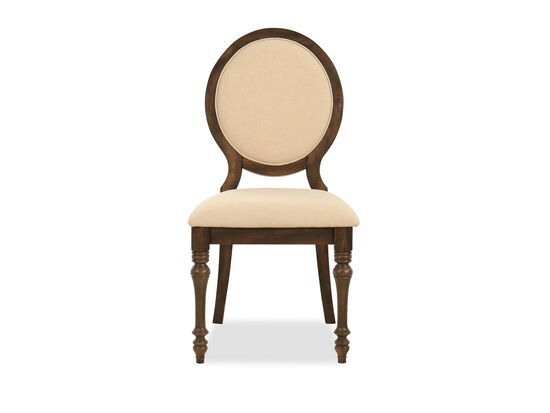 "40"" Contemporary Shield-Back Side Chair in Beige"
