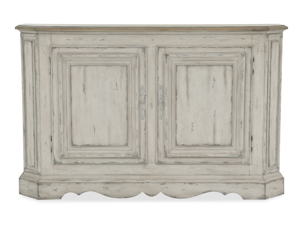 Images Paneled Doors Casual Console Table In Distressed White
