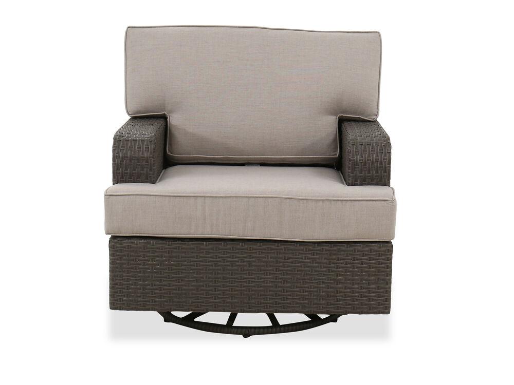 Aluminum Club Swivel Glider Chair in Brown